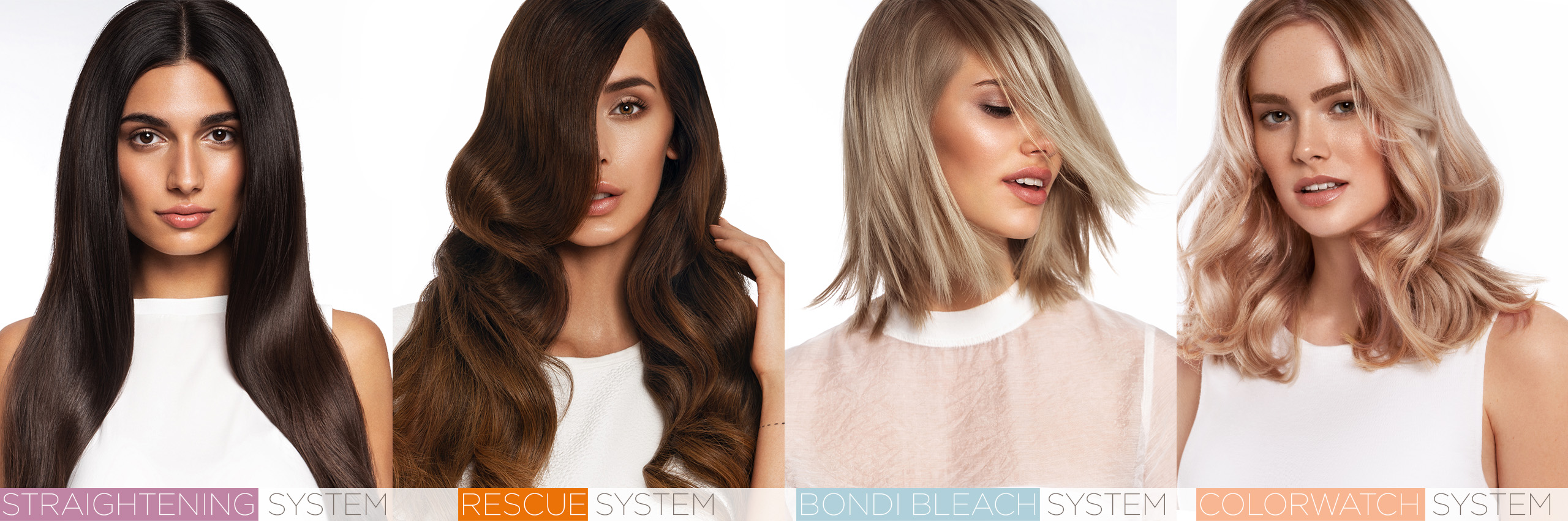 NEWSHA, salon systems, haircare, treatment, professional, Straightening, Bondi Bleach, Colorwatch, Rescue System, hair, hairdresser, salon exclusive